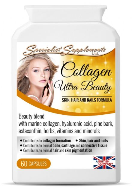 Collagen Ultra Beauty x 60 Capsules; Hair, Skin, Nails; Specialist Supplements
